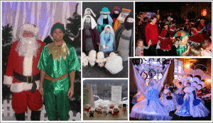 Collage of pictures from the Christmas Grotto